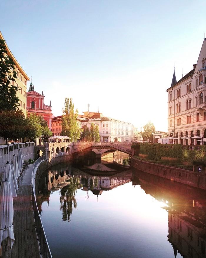 City center of Ljubljana